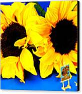 Van Gogh's Sunflower Miniature Art Canvas Print