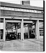 Vancouver Fire Rescue Services Hall 2 In Downtown Eastside Bc Canada Canvas Print by Joe Fox