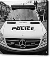 Vancouver Police Mercedes Response Van Vehicle Bc Canada Canvas Print by Joe Fox