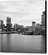 Vancouver Waterfront Skyline At Gastown Bc Canada Canvas Print by Joe Fox
