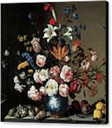 Vase Of Flowers By A Window Canvas Print