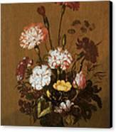 Vase Of Flowers Canvas Print by Hans Bollongier