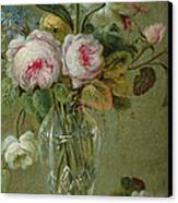 Vase Of Flowers On A Table Canvas Print