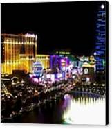 Vegas At Night Canvas Print by Barbara Chichester