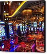 Vegas Slot Machines Canvas Print by Yhun Suarez
