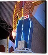Vegas Vic Canvas Print by Kay Novy