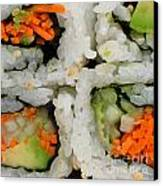 Vegetable Sushi Canvas Print