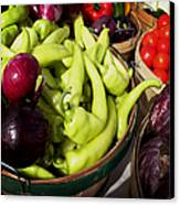 Vegetables Organic Market Canvas Print by Julie Palencia