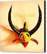 Vejigante Mask Canvas Print by Lilliana Mendez