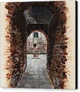 Venetian Courtyard 01 Elena Yakubovich Canvas Print