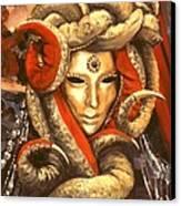 Venetian Mystery Mask Canvas Print by Michael Swanson