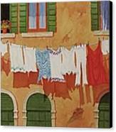 Venetian Washday Canvas Print