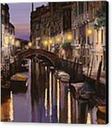 Venezia Al Crepuscolo Canvas Print by Guido Borelli