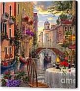 Venice Al Fresco Canvas Print by Dominic Davison
