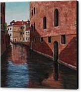 Venice Canal Canvas Print by Darice Machel McGuire