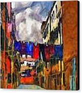 Venice Laundry 2 Canvas Print by Cary Shapiro