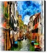 Venice Watercolor Canvas Print
