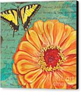 Verdigris Floral 1 Canvas Print by Debbie DeWitt