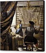 Vermeer, Johannes 1632-1675. The Canvas Print by Everett