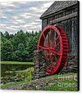 Vermont Grist Mill Canvas Print by Edward Fielding