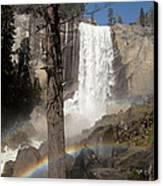 Vernal Falls With Rainbow Canvas Print