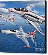 Vf-111 Sundowners Heritage Canvas Print by Stu Shepherd