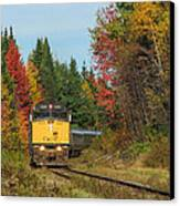Fall Colours With Train Canvas Print