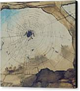 Vianden Through A Spider's Web Canvas Print by Victor Hugo