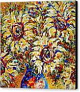 Vibrant Sunflower Essence Canvas Print