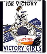 Victory Girls Of W W 1     1918 Canvas Print by Daniel Hagerman