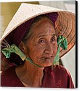 Vietnamese Lady Canvas Print by Rick Piper Photography