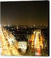 View From Arc De Triomphe - Paris France - 01138 Canvas Print by DC Photographer