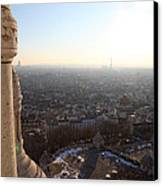 View From Basilica Of The Sacred Heart Of Paris - Sacre Coeur - Paris France - 011310 Canvas Print