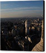 View From Basilica Of The Sacred Heart Of Paris - Sacre Coeur - Paris France - 011321 Canvas Print