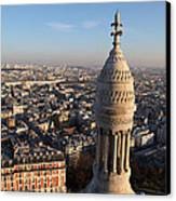 View From Basilica Of The Sacred Heart Of Paris - Sacre Coeur - Paris France - 011332 Canvas Print