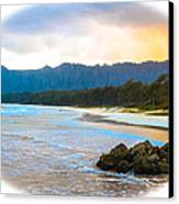 View From Bellows At Kaneohe Canvas Print by Lisa Cortez