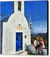 View From The Top Of Serifos Island Canvas Print by George Atsametakis