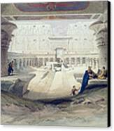 View From Under The Portico Of Temple Canvas Print by David Roberts