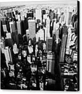 View North And Down Towards Central Park From Empire State Building Canvas Print