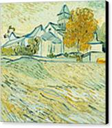 View Of Asylum And Saint-remy Chapel Canvas Print by Vincent van Gogh