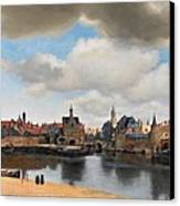 View Of Delft Canvas Print by Johannes Vermeer