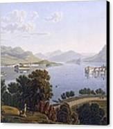 View Of Lake Maggiore And The Borromean Canvas Print