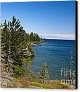View Of Rock Harbor And Lake Superior Isle Royale National Park Canvas Print by Jason O Watson