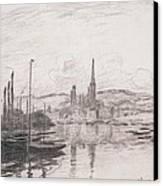 View Of Rouen Canvas Print by Claude Monet