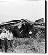 View Of The Great Railroad Wreck, The Canvas Print