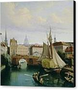 View Of The Riddarholmskanalen Canvas Print