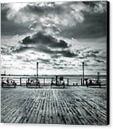 View Point On The Pier Canvas Print by Mark Rogan