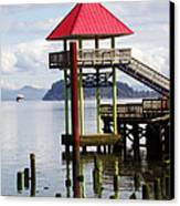 Viewing The Columbia River Canvas Print by Pamela Patch