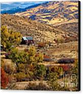 Viewing The Old Barn Canvas Print by Robert Bales