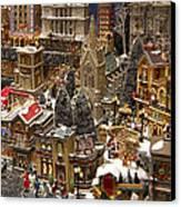 Village Christmas Scene Canvas Print by Jon Berghoff